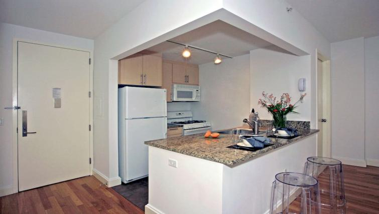 Equipped kitchen at Hanover Square Apartments